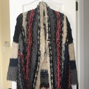 Free People Multicolored Assymentrical Cardigan